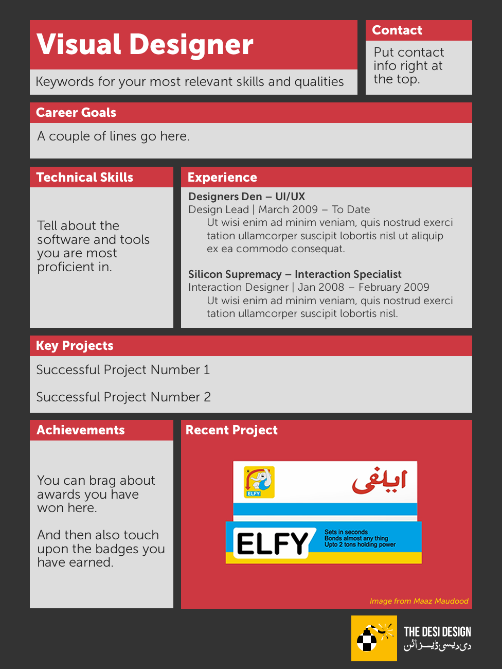 Rethinking The Resume   Visual Designer  Visual Designer Resume